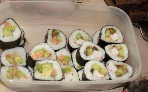 Sushi z boskim sosem